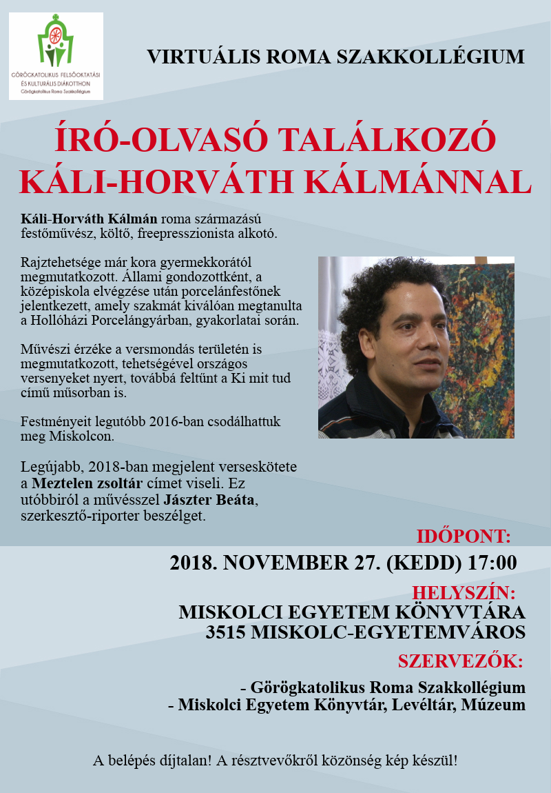 Író-olvasó találkozó Káli-Horváth Kálmánnal